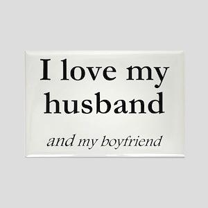 Husband/my boyfriend Rectangle Magnet