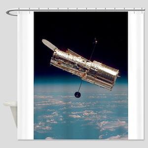 Hubble Space Telescope Earth orbit Shower Curtain