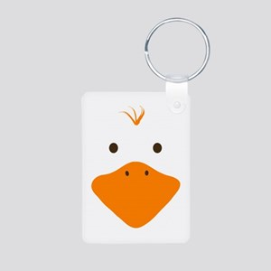 Cute Little Ducky's Face Aluminum Photo Keychain