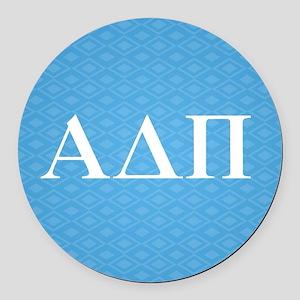 Alpha Delta Pi Letters Round Car Magnet