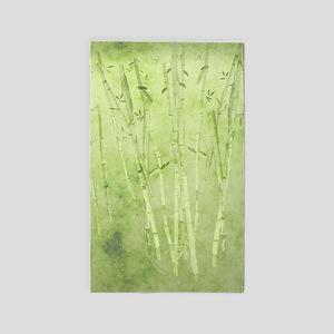Green Bamboo Stalks Area Rug