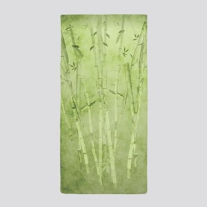 Green Bamboo Stalks Beach Towel