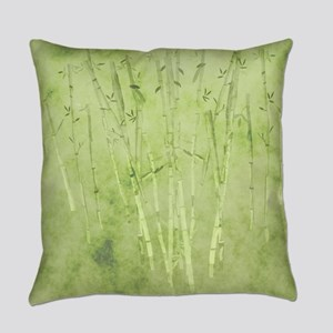 Green Bamboo Stalks Everyday Pillow