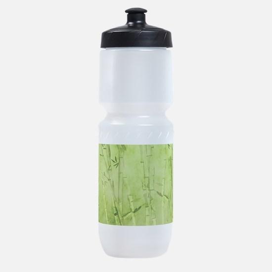 Green Bamboo Stalks Sports Bottle