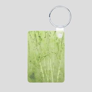 Green Bamboo Stalks Keychains