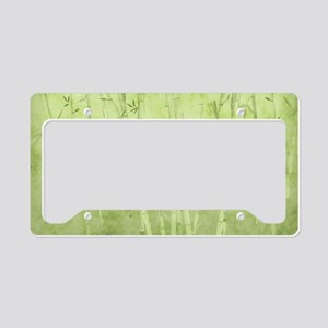 Green Bamboo Stalks License Plate Holder
