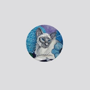Blue Point Siamese Mini Button (10 pack)