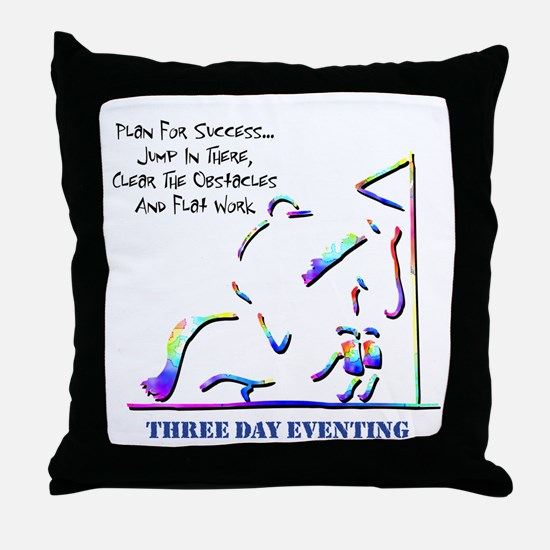 Three Day Eventing Throw Pillow