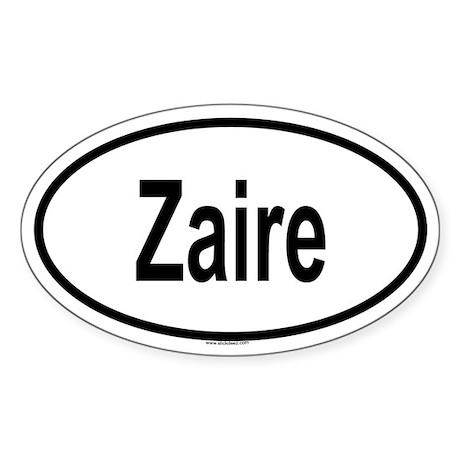 ZAIRE Oval Sticker