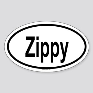 ZIPPY Oval Sticker