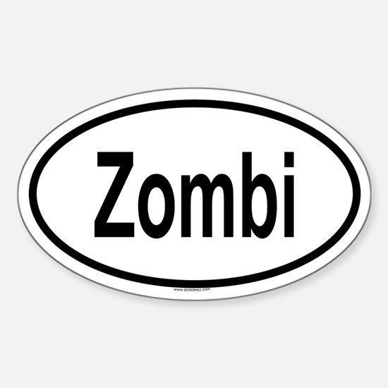 ZOMBI Oval Decal