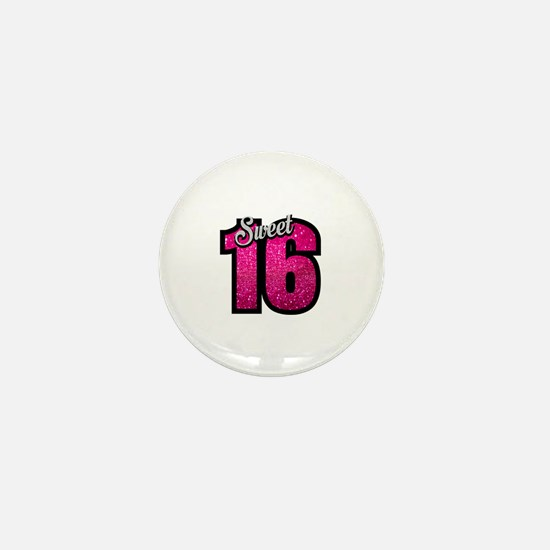Cute 16th birthday Mini Button