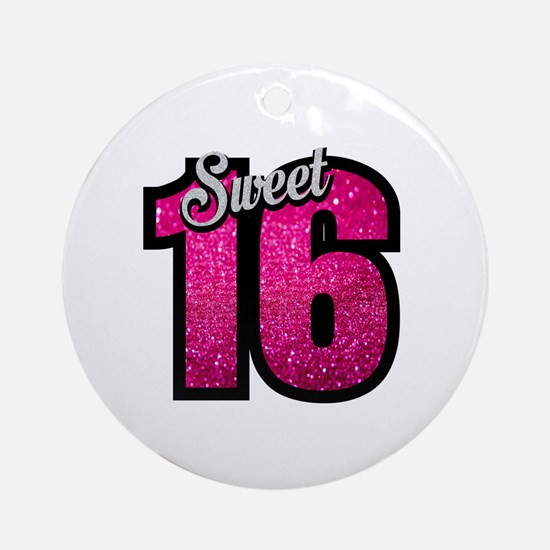 Cute Sweet 16 Round Ornament