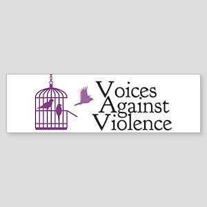 Voices Against Violence Logo Bumper Sticker