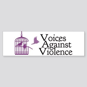 Voices Against Violence Logo Bumper Sticker
