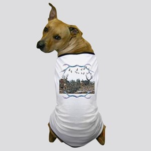 Buck mule deer and geese Dog T-Shirt