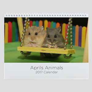 Aprils Animals Wall Calendar