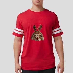 Christmas Reindeer Bulldog T-Shirt