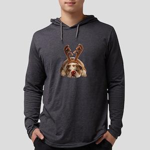 Christmas Reindeer Bulldog Long Sleeve T-Shirt