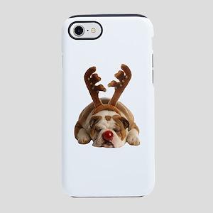 Christmas Reindeer Bulldog iPhone 8/7 Tough Case