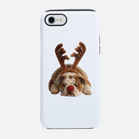 Christmas Reindeer Bulldog iPhone 8/7 Tough Case