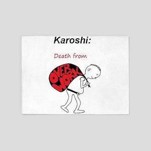 Karoshi: Death from Overwork 5'x7'Area Rug