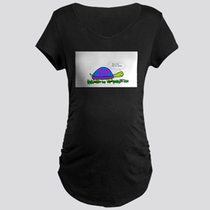 Turtle on Cell Phone Maternity T-Shirt