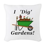 I Dig Gardens Woven Throw Pillow