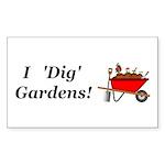 I Dig Gardens Sticker (Rectangle 10 pk)