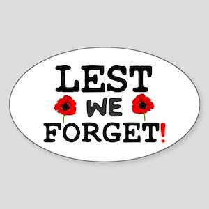 LEST WE FORGET! - Sticker