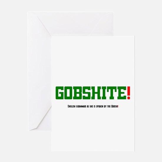 GOBSHITE - ENGlISH GRAMMAR AS SHE I Greeting Cards