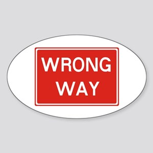 SIGN WRONG WAY - RED Sticker