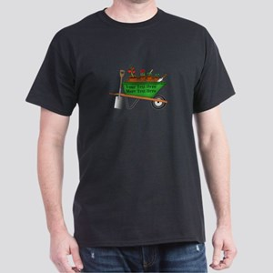 Personalized Green Wheelbarrow Dark T-Shirt