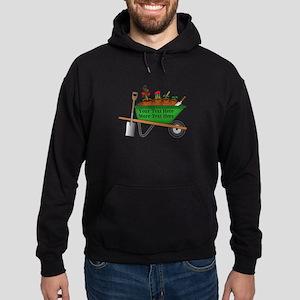 Personalized Green Wheelbarrow Hoodie (dark)