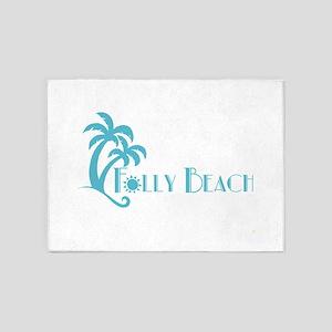 Folly Beach Blue 5'x7'Area Rug