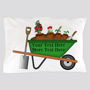 Personalized Green Wheelbarrow Pillow Case