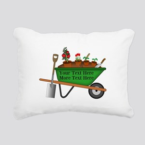 Personalized Green Wheel Rectangular Canvas Pillow