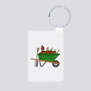Personalized Green Wheelba Aluminum Photo Keychain