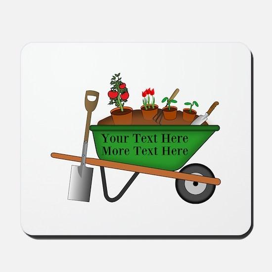 Personalized Green Wheelbarrow Mousepad