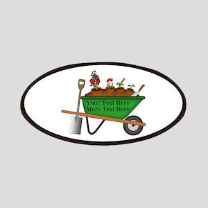 Personalized Green Wheelbarrow Patch