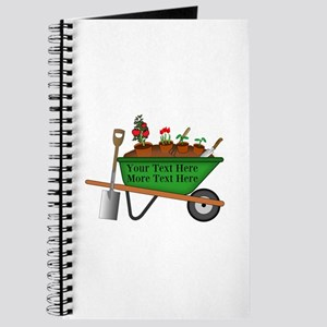 Personalized Green Wheelbarrow Journal