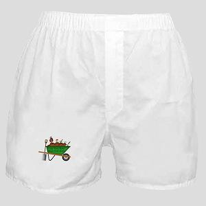 Personalized Green Wheelbarrow Boxer Shorts