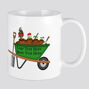 Personalized Green Wheelbarrow Mug