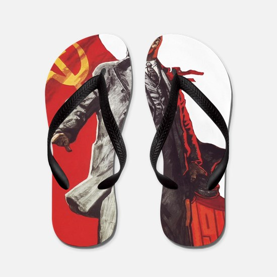 Unique Lenin Flip Flops