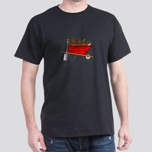 Personalized Red Wheelbarrow Dark T-Shirt
