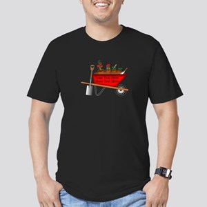 Personalized Red Wheel Men's Fitted T-Shirt (dark)
