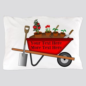 Personalized Red Wheelbarrow Pillow Case