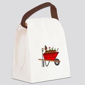 Personalized Red Wheelbarrow Canvas Lunch Bag
