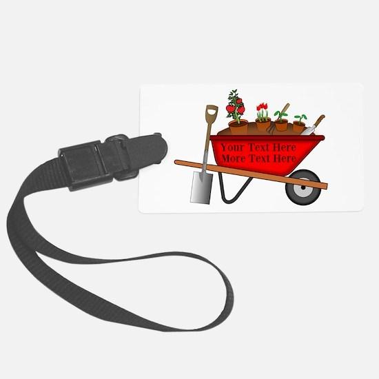 Personalized Red Wheelbarrow Luggage Tag