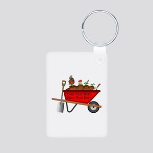 Personalized Red Wheelbarr Aluminum Photo Keychain